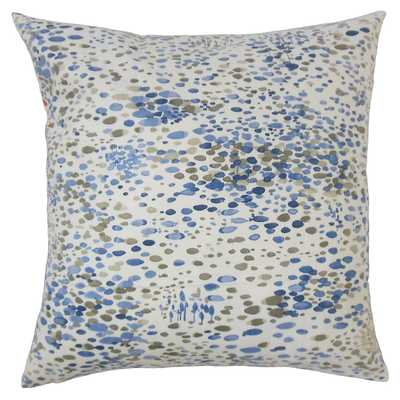 Pom Groy 20x20 Pillow, Blue - Feather/down fill - One Kings Lane