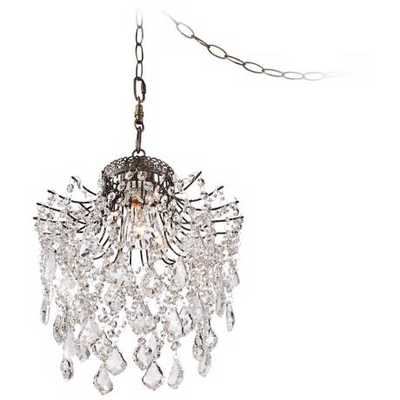 Brielle Crystal Plug-In Swag Pendant - Lamps Plus