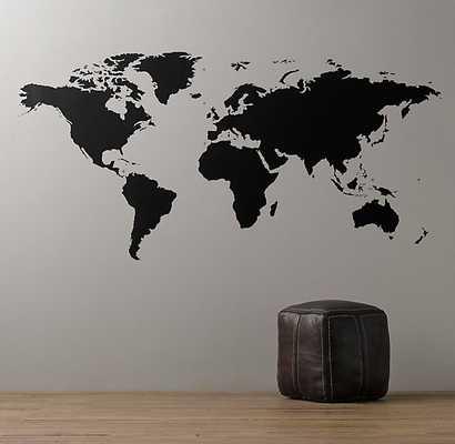 World Map Chalkboard Decal - 8' - RH Baby & Child