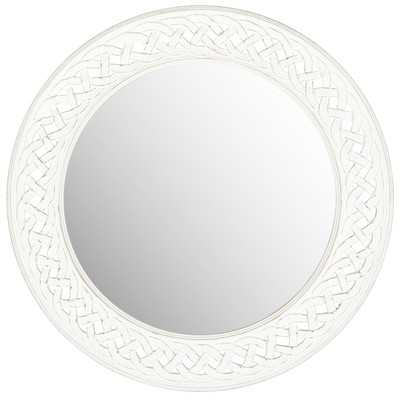 Braided Chain Wall Mirror - White - Wayfair