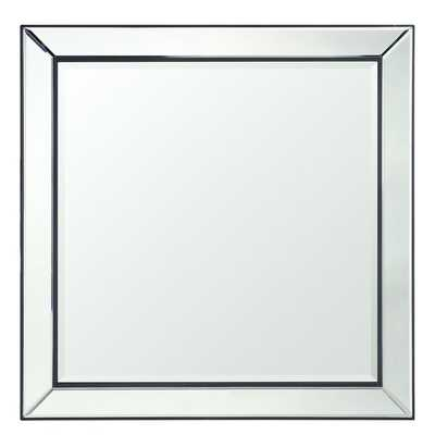 Mirrored Frame Square Accent Wall Mirror - Overstock