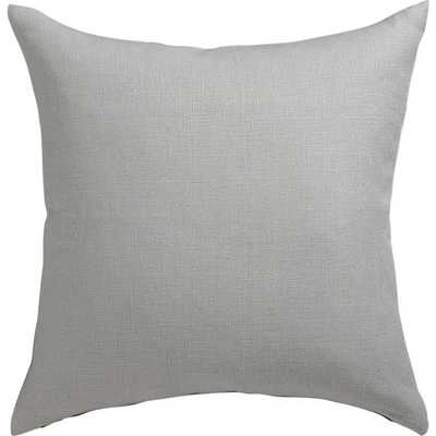 "linon grey 20"" pillow, Feather Insert - CB2"