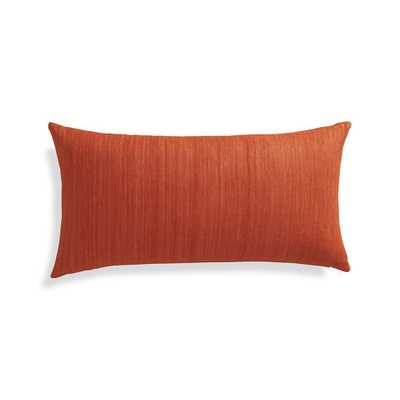 "Michaela Orange 24""x12"" Pillow - Feather-down/ Down-alternative insert - Crate and Barrel"