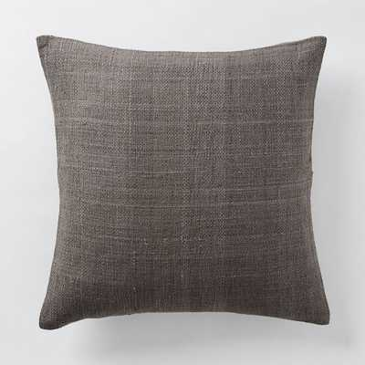 Silk Hand-Loomed Pillow Cover - Shale - Insert Sold Separately - West Elm