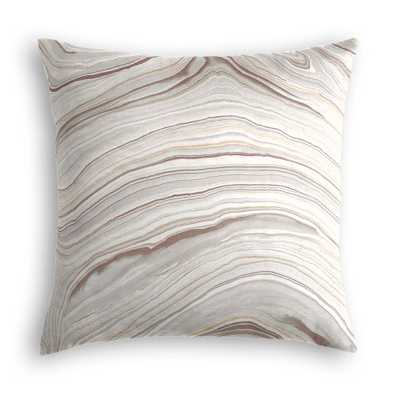 "Light Gray Marble Pillow - Marbleous - Quarry - 18"" x 18"" - Poly Insert - Loom Decor"