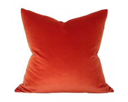 "Pillow Cover in Rust Velvet - 18"" x 18"" - Insert Sold Separately - Arianna Belle"