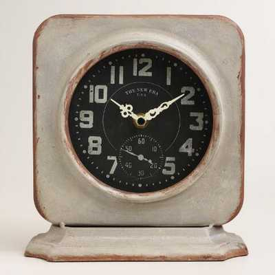 Square Galvanized Metal Filmore Clock - World Market/Cost Plus