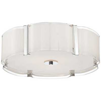 "Possini Euro Design Flair 16 3/4"" Wide Chrome Ceiling Light - Lamps Plus"