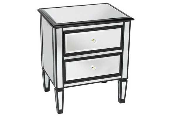 Lila Mirrored Nightstand - One Kings Lane