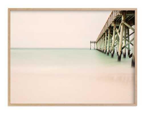 "Nostalgic - 40"" x 30"" - Natural Raw Wood Frame - No mat - Minted"