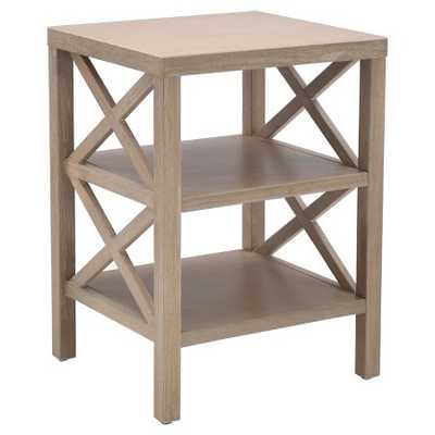 Owings End Table with 2 Shelves - Threshold™- Rustic - Target