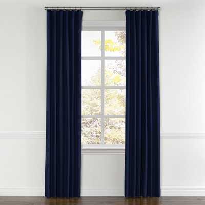 "Navy blue velvet curtain - 96"" x 50"" - blackout lining - Loom Decor"