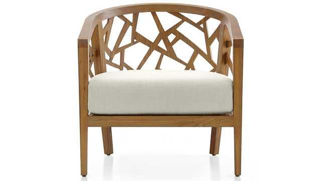 Ankara Grey Wash Frame Chair with Fabric Cushion - Crate and Barrel