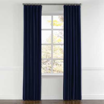 "Navy blue velvet curtain - 96"" x 50"" -  Standard Cotton Lining - Loom Decor"
