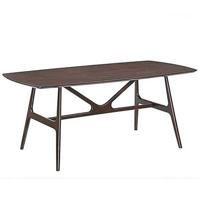 WEDGE DINING TABLE IN WALNUT - Modway Furniture