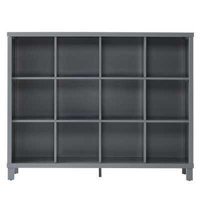 Cubic Bookcase (Grey, 12-Cube) - Land of Nod