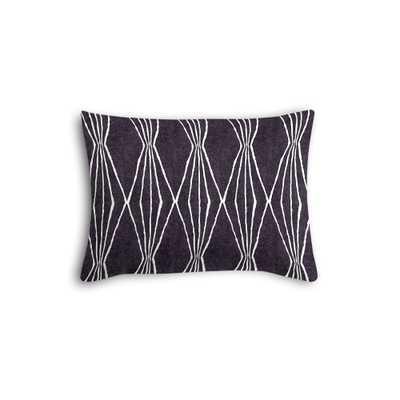 "Black and white diamond boudoir pillow - 16""x 20"" - Down Insert - Loom Decor"