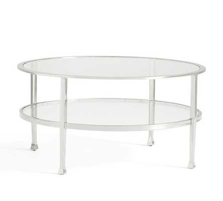 Tanner Round Coffee Table - Polished Nickel finish - Pottery Barn