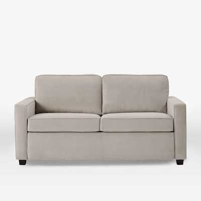"Henry 76"" Sofa - Performance Velvet, Dove Gray - West Elm"