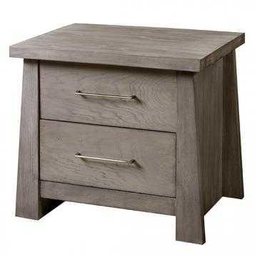 Zen Two-Drawer Nightstand - Driftwood - Home Decorators