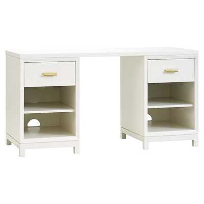 Rowan Cubby Storage Desk - Simply White - Pottery Barn Teen