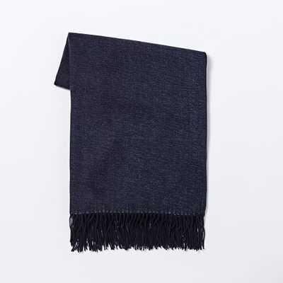 Warmest Yarn Dye Throw, Nightshade - West Elm
