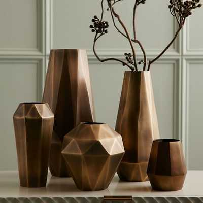 Faceted Metal Vases - ExtraTall - West Elm