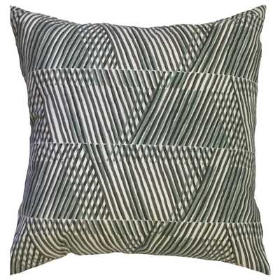 "Qays Geometric Pillow Dew - 18"" x 18"", Down Insert - Linen & Seam"