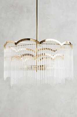 Arched Waterfall Chandelier- Clear - Anthropologie