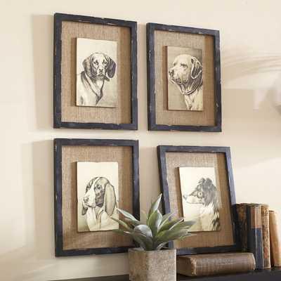 """Wise Hound Wall Art - 14"""" H x 11"""" W - Framed - Birch Lane"""