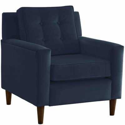 Arm Chair - Parkview Style 5505 - Navy Velvet - Third & Vine