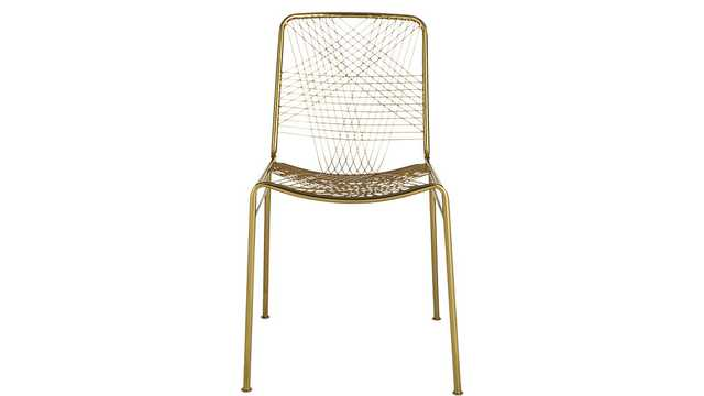 Alpha brass chair - CB2