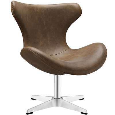 HELM LOUNGE CHAIR IN BROWN - Modway Furniture