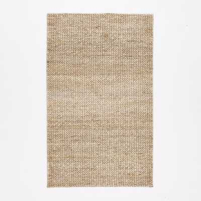 Tonal Braided Jute - Platinum - 5'x8' - West Elm