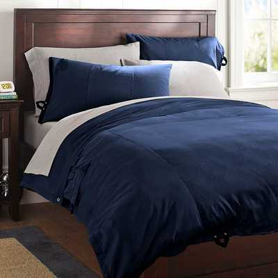 Classic Metro Duvet Cover - Full/Queen, Navy - Pottery Barn Teen