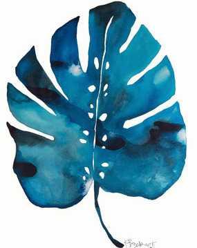 Split Leaf Philodendron - Black frame - With mat - Artfully Walls