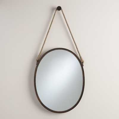 Vertical Oval Fynn Captain's Mirror - World Market/Cost Plus