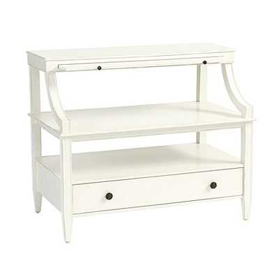 Sidney Open Side Table - Rubbed Soft White - Ballard Designs