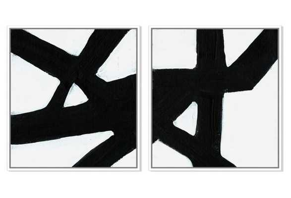 "Ilana Greenberg, Crossroads - Set of 2 - 37""W x 40""H - White frame without Mat - One Kings Lane"
