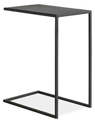 Slim C-Table in Natural Steel - Room & Board