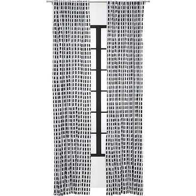 "Korben plaid curtain panel - 96"" - CB2"