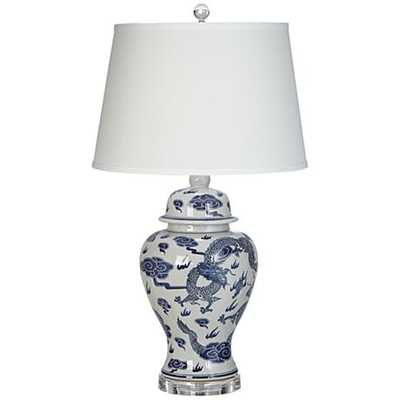 Dragon Blue and White Porcelain Table Lamp - Lamps Plus