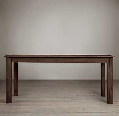DRIFTED OAK PARSONS RECTANGULAR EXTENSION DINING TABLE - RH