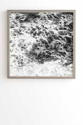 OCEAN LULLABY - 30x30 - Weathered Grey - Wander Print Co.