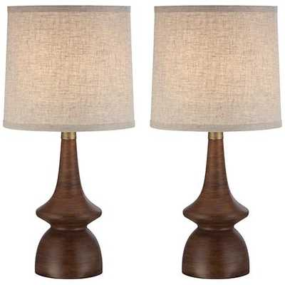 Rexford Mid - Century Walnut Table Lamp - Set of 2 - Lamps Plus