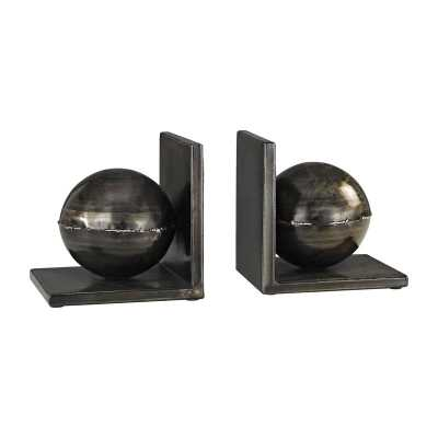 Fugue Bookends In Holmes Bronze - Set of 2 - Rosen Studio