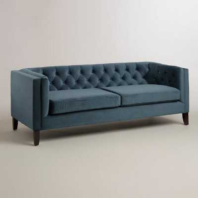 Midnight Blue Velvet Kendall Sofa - World Market/Cost Plus