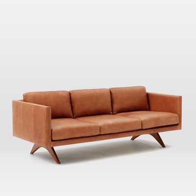 """Brooklyn Leather 81"""" Sofa - Sienna - West Elm"""