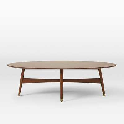 Reeve Mid-Century Oval Coffee Table- Pecan - West Elm