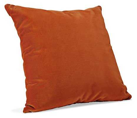 "Velvet Pillows -pumpkin - 21""w 21""h - Feather/Down insert - Room & Board"